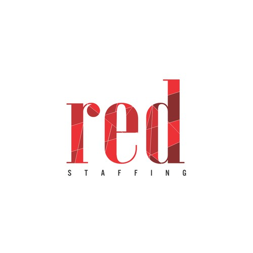 "abstract and modern logo design for ""RED Staffing"""""