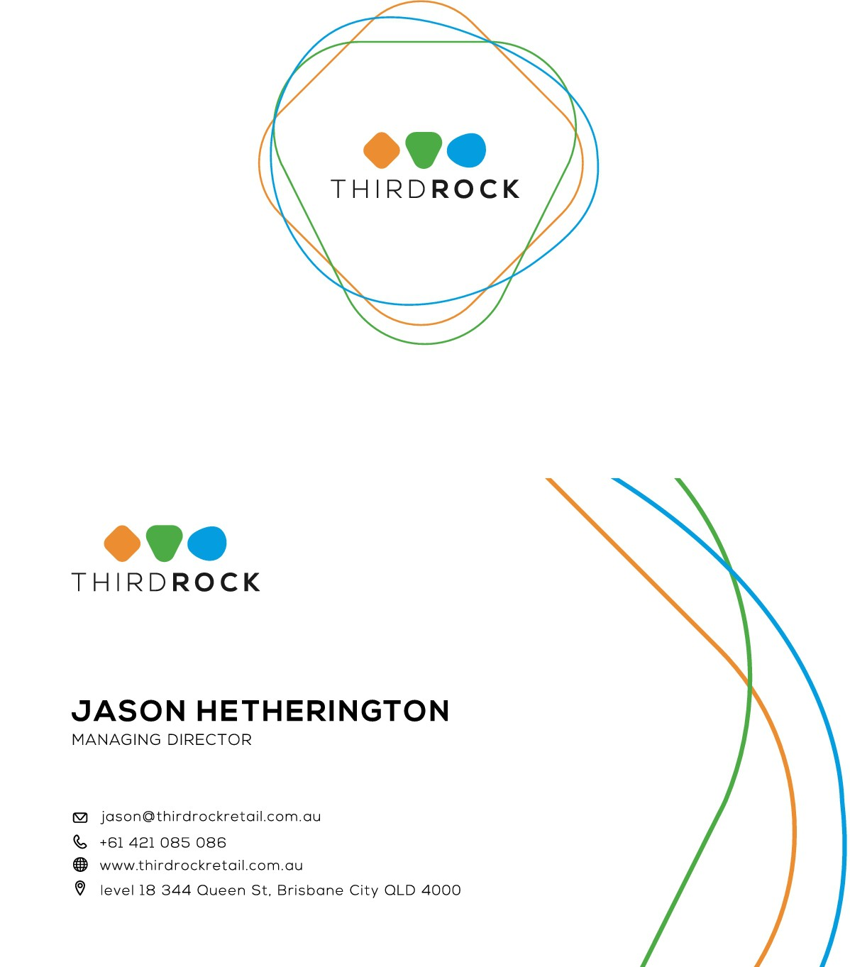 Business card design for Third Rock