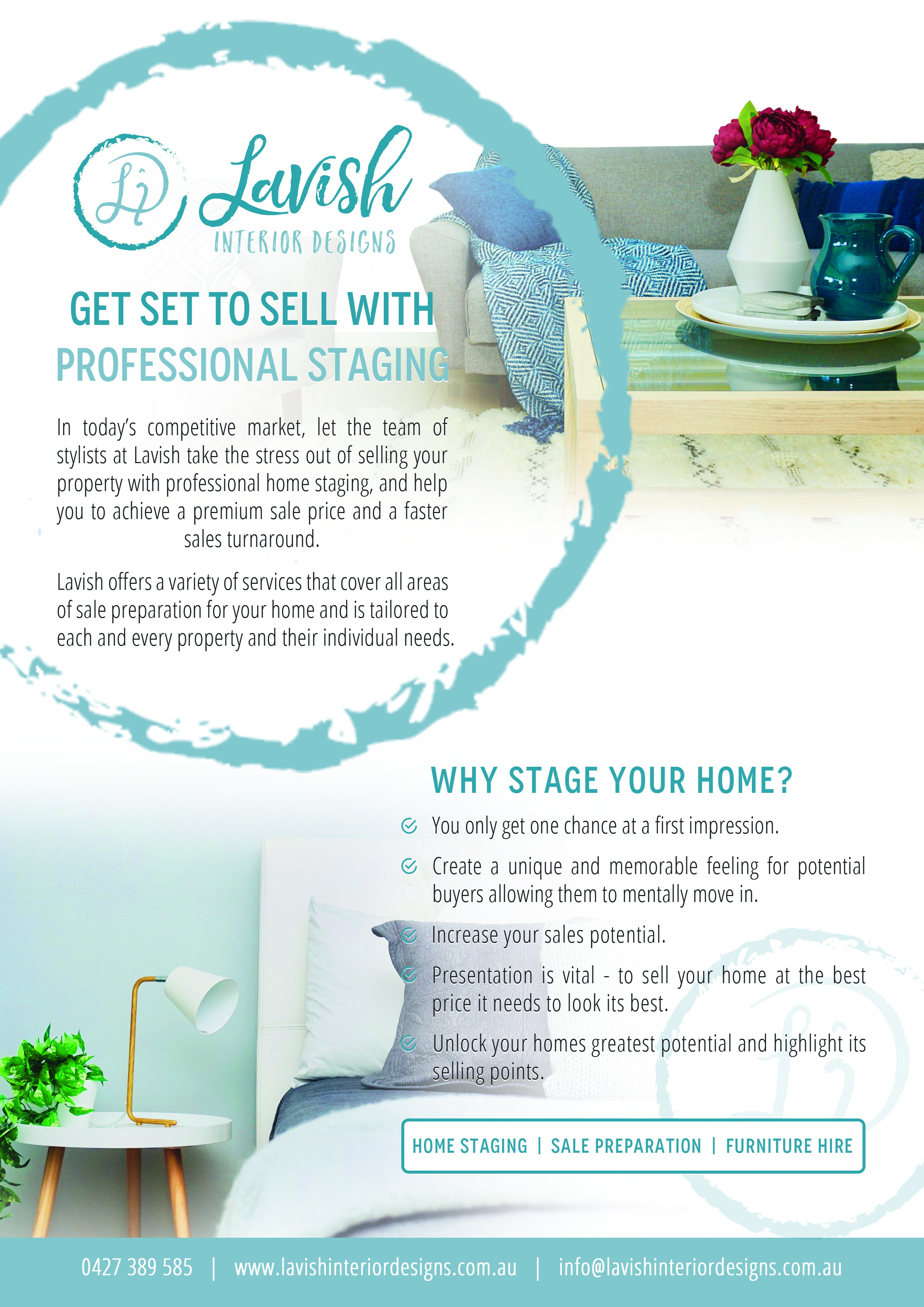 Design an A4 flyer for Home Staging business!