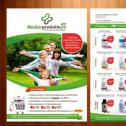 Flyer design for medical products