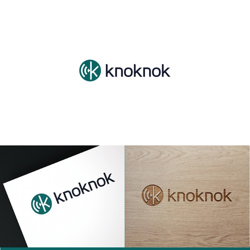 Knoknok Connected Doorbell Logo Design.