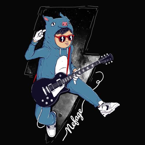 Guitar cute