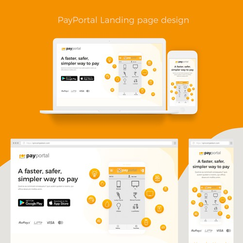Landing Page for PayPortal.in