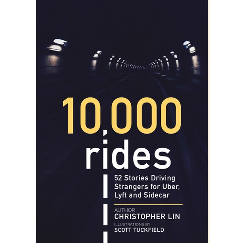 Book cover design for 10,000 Rides