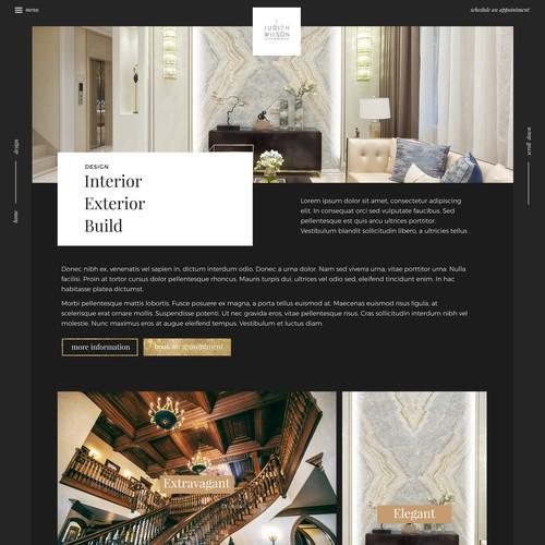 Interior (& fashion) Designer needs Complete Creative looking website
