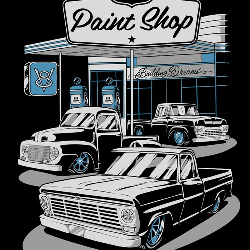 KCs Paint Shop Tshirt Design