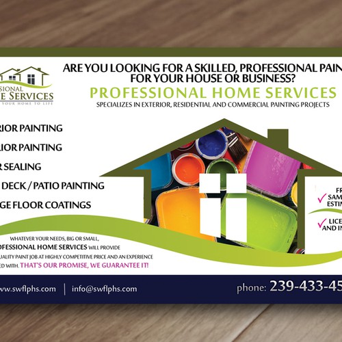 Professional Home Services needs a new postcard or flyer
