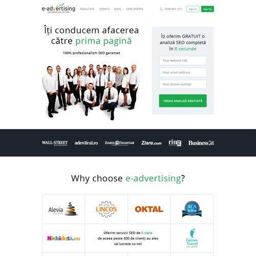 Website design for E-advertising