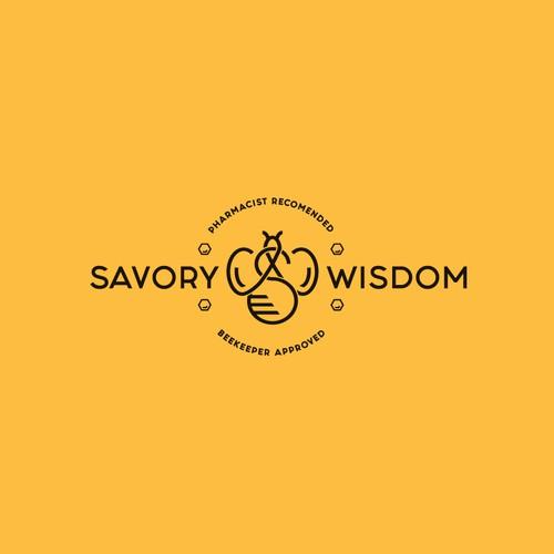 Monogram concept logo for SAVORY WISDOM