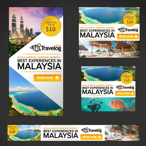 Banner Ads for Travel Site