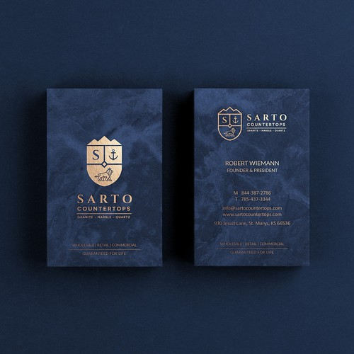 Sarto Countertops - Logo & Business Card Design