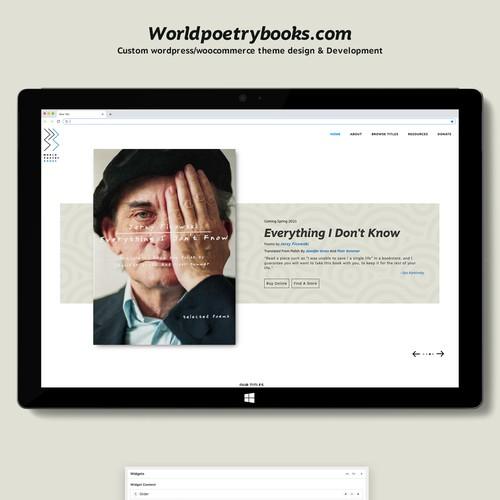 Wordpress theme design and Development for Book publisher