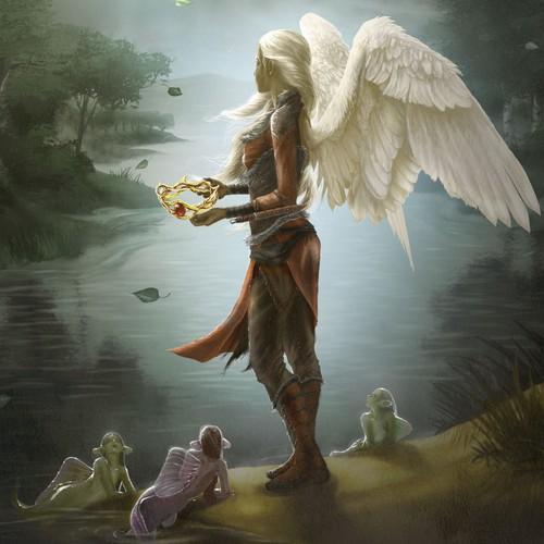 Illustrate Epic Fantasy Novel cover for Neverqueen