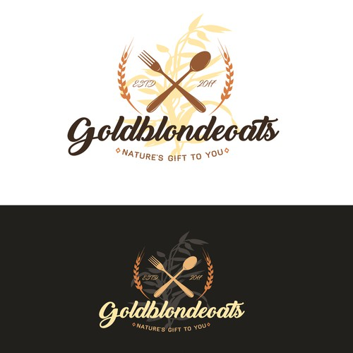 Logo concept for Goldblondeoats cafe