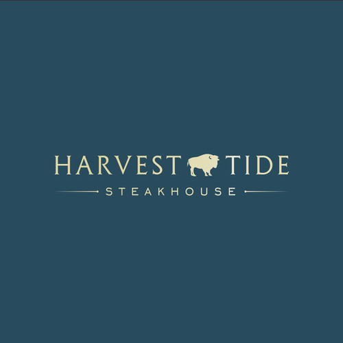 Minimalist design concepts for Harvest Tide Steakhouse.
