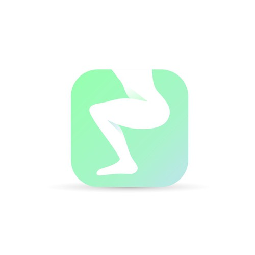 Gluteal muscle training app icon