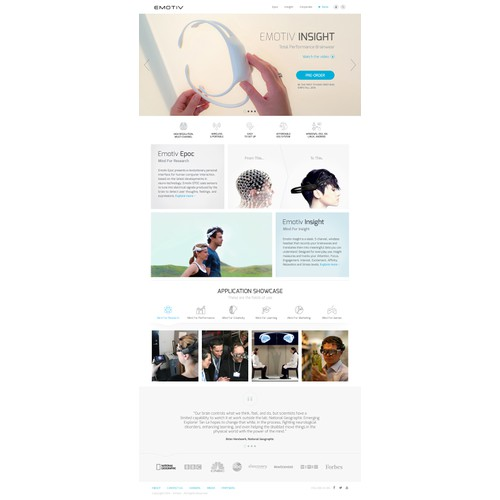 Redesign website for International Award Winning EEG system