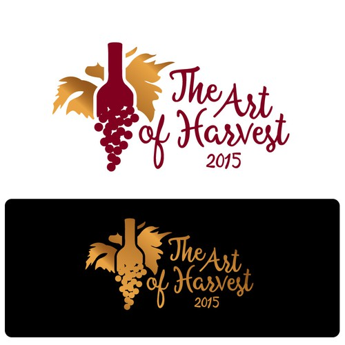"""Artistic logo our annual harvest party event t-shirts""""The Art of Harvest"""