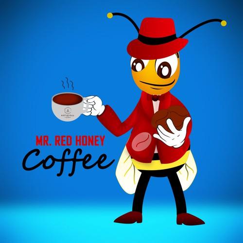 Mr. Red honey coffee