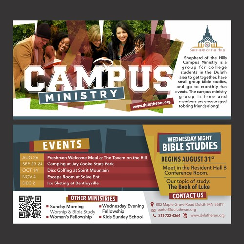 Flyer Design for Campus Ministry
