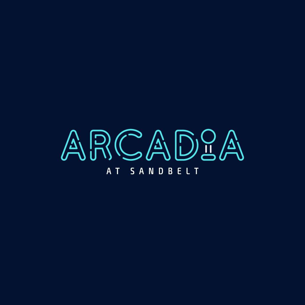 Modern retro arcade logo