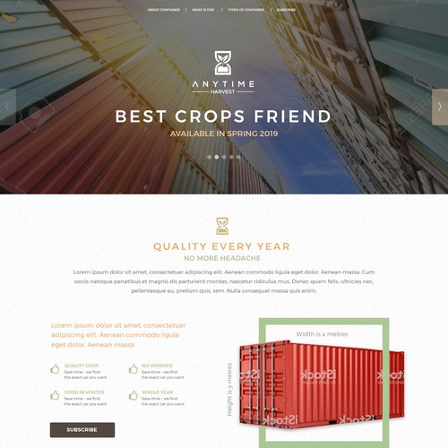Landing page for crops best friend