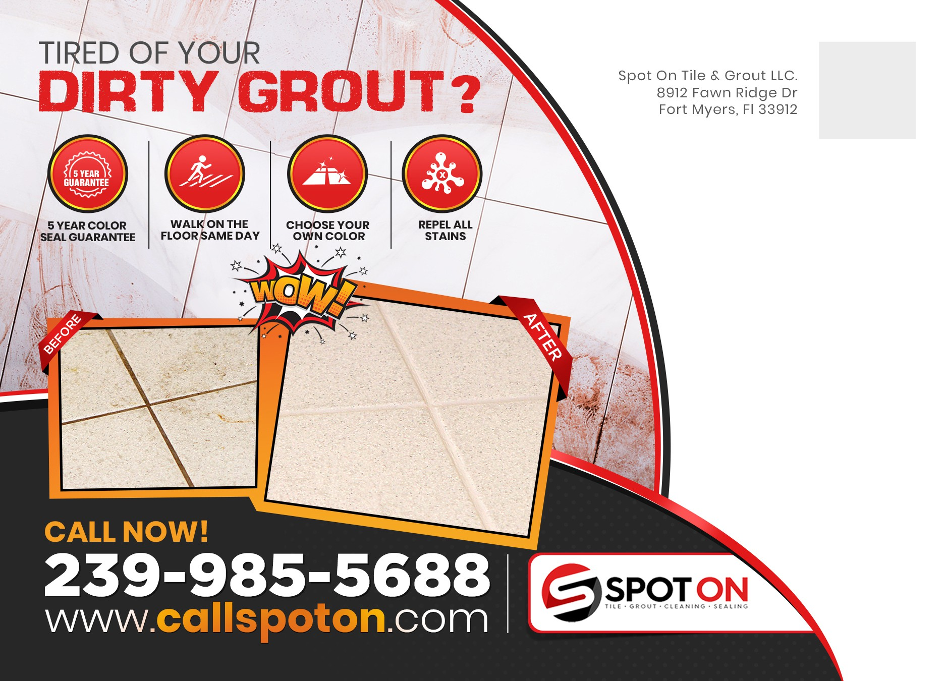 Tile and Grout Cleaning company looking for a BOLD new ad!