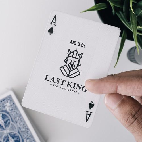 Last King - Minimalist Card Game Logo Design