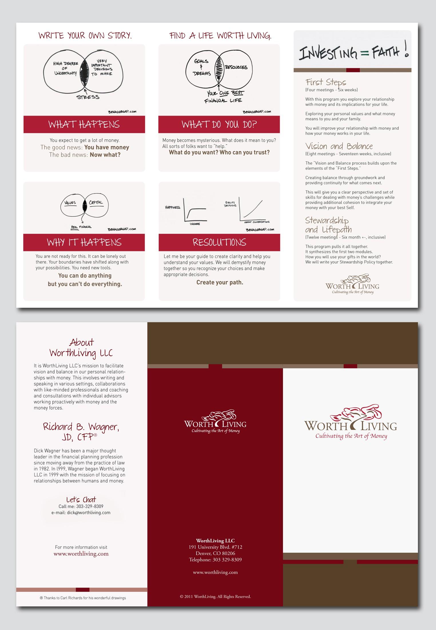 print or packaging design for WorthLiving LLC