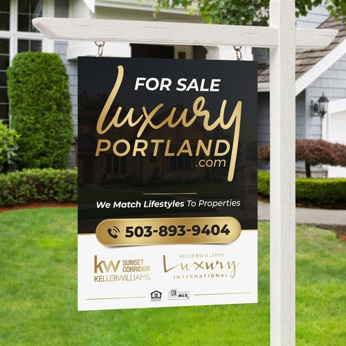 luxury real estate sign