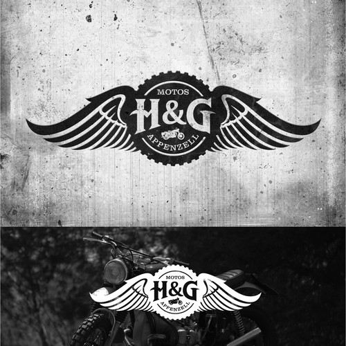Erstellt ein ansprechendes Logo für eine Motorradwerkstatt