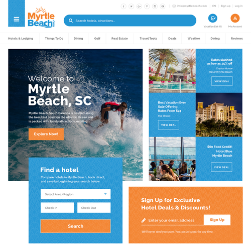 Beach's tourism Portal Site