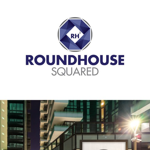 Roundhouse Squared logo design