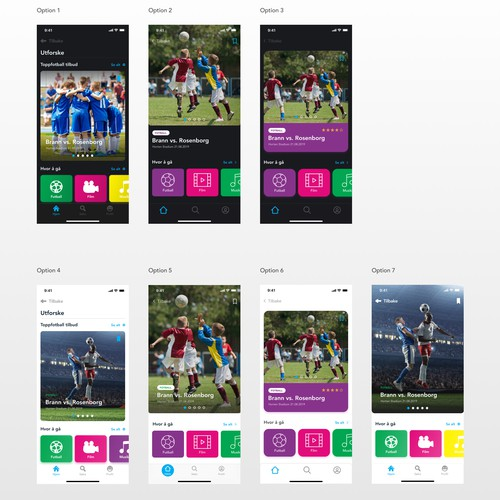 App design for Norways biggest platform for youth.