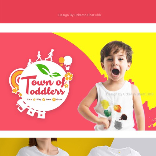 Town of Toddlers logo design