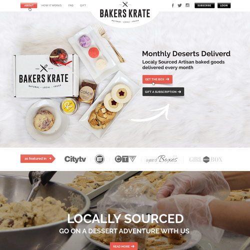Bakers Krate Home Page Design
