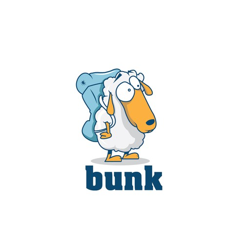 Create a fun character to be the face of Bunk
