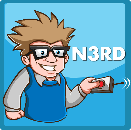 """New iPhone Icon for an App called """"myN3RD""""."""