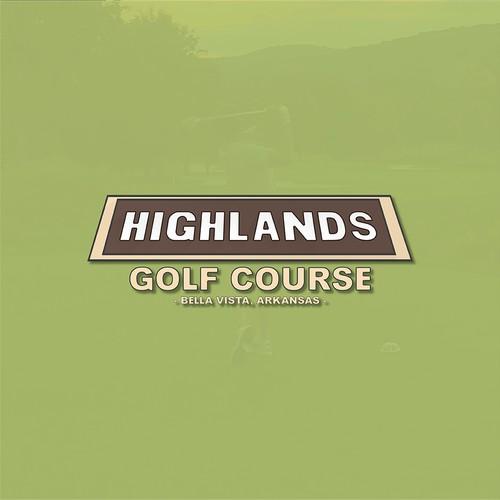 Logo for the Highlands Golf Course in Arkansas.