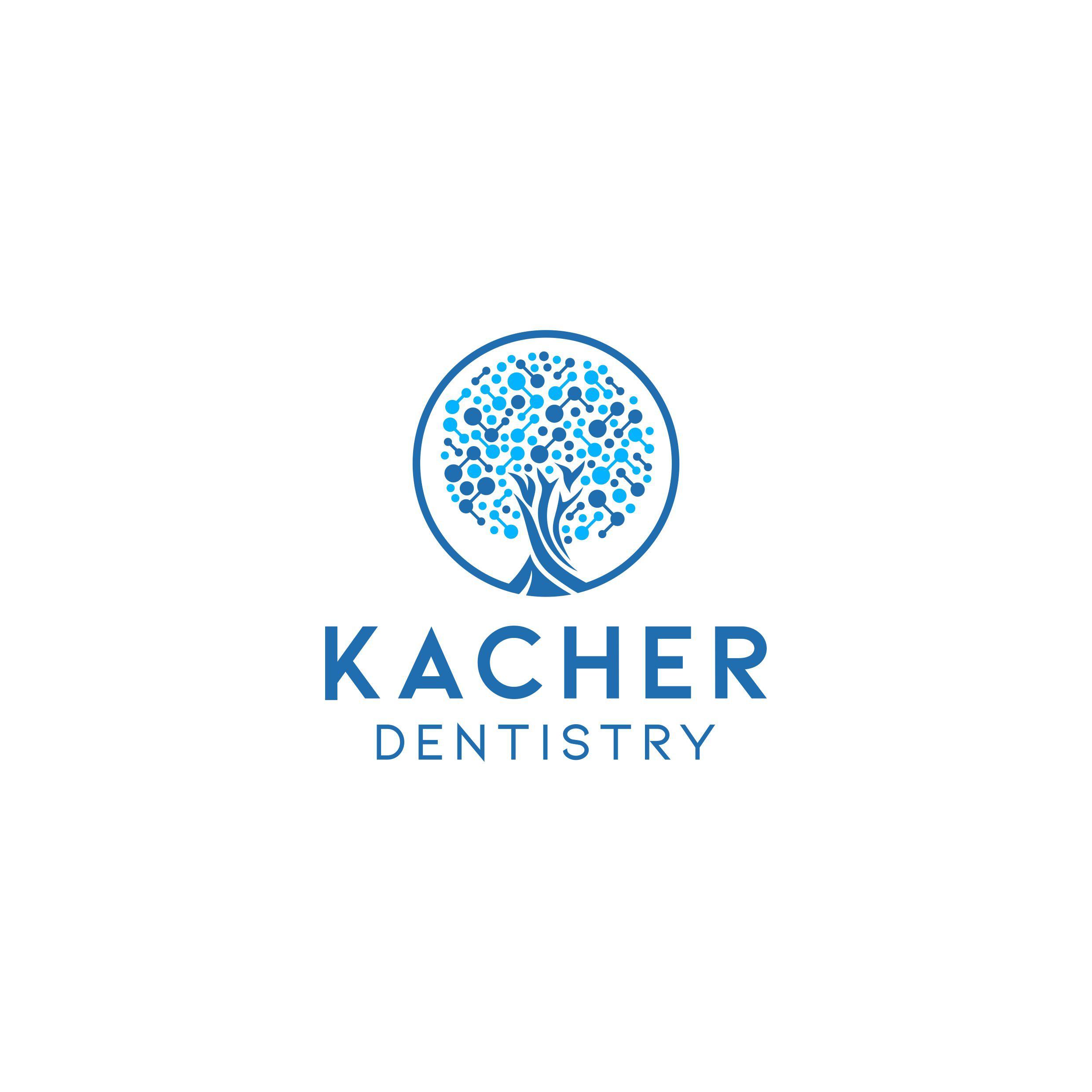 High tech Dentistry tree logo