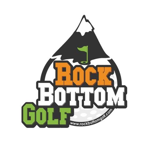 Concepto de logotipo para torneos de Golf