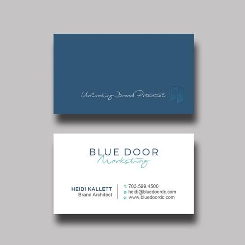 Marketing Consultant needs new biz card image