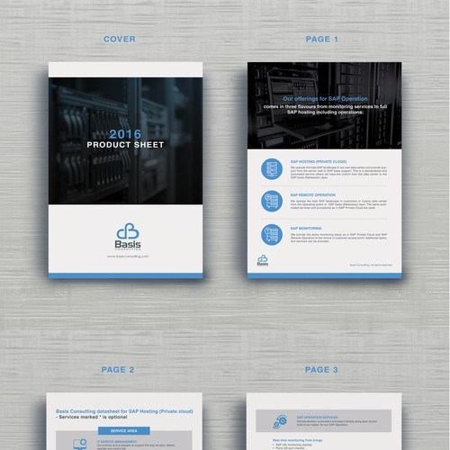 REDESIGN: clean, minimal & professional design needed for our product sheet