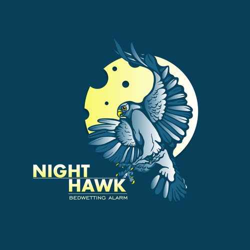 Night Hawk logo for kids/adolescents to help with a medical issue