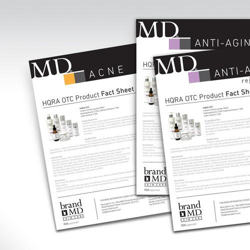 Skin care brand brochure