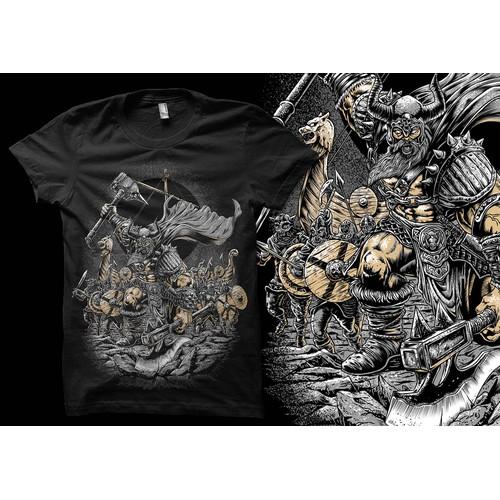 Viking Raid t shirt artwork