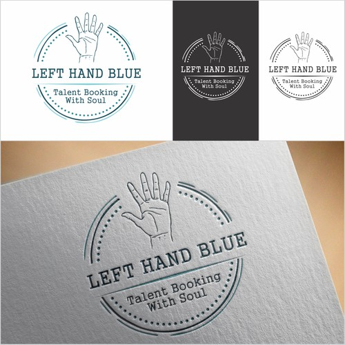 left hand blue