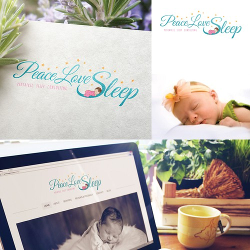 Design a calm and peaceful logo for Peace Love Sleep, Pediatric Sleep Consulting