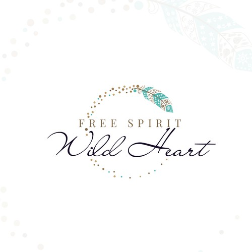New age bohemian logo for Free Spirit Wild Heart
