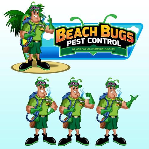 beach bugs mascot
